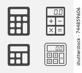 calculator icon isolated.