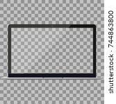 laptop in macbook air style... | Shutterstock .eps vector #744863800