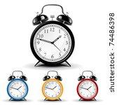 vector alarm clock | Shutterstock .eps vector #74486398