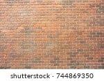 background of old vintage brick ... | Shutterstock . vector #744869350