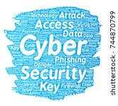 conceptual cyber security... | Shutterstock . vector #744870799