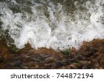 Small Waterfall With Clear...