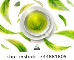 vector 3d illustration with... | Shutterstock .eps vector #744881809