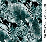 watercolor seamless pattern...   Shutterstock . vector #744883078