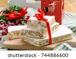 nougat  sweet christmas | Shutterstock . vector #744886600