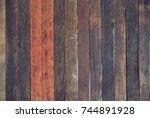 dark wood background. | Shutterstock . vector #744891928