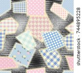 seamless background pattern.... | Shutterstock .eps vector #744895228