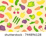 seamless background with simple ... | Shutterstock .eps vector #744896128