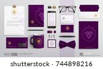 corporate brand identity mockup ... | Shutterstock .eps vector #744898216