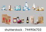 vector realistic food products... | Shutterstock .eps vector #744906703