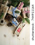 holiday gifts | Shutterstock . vector #744911164