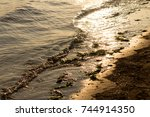 afternoon of autumn at seaside... | Shutterstock . vector #744914350