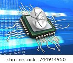 3d illustration of computer... | Shutterstock . vector #744914950