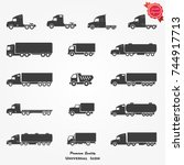 truck icon vector | Shutterstock .eps vector #744917713