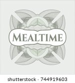 green abstract linear rosette... | Shutterstock .eps vector #744919603