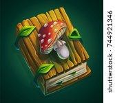 vector cartoon illustration... | Shutterstock .eps vector #744921346