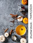 ingredients for cook spicy... | Shutterstock . vector #744922024