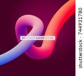 minimal abstract liquid curve... | Shutterstock .eps vector #744931780
