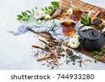 food and drink  still life... | Shutterstock . vector #744933280