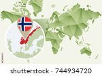 infographic for norway ... | Shutterstock .eps vector #744934720