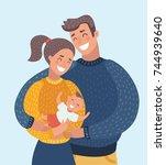 vector cartoon illustration of... | Shutterstock .eps vector #744939640