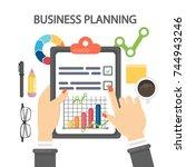 woman planning business. female ...   Shutterstock .eps vector #744943246