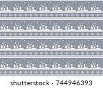 christmas pattern  | Shutterstock .eps vector #744946393