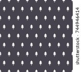 christmas pattern  | Shutterstock .eps vector #744946414
