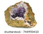 amethyst geode found in morocco ... | Shutterstock . vector #744950410