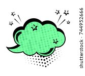 green dialog box. colored empty ...   Shutterstock .eps vector #744952666