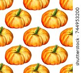 seamless pattern with... | Shutterstock . vector #744953200