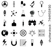 science icon set | Shutterstock .eps vector #744955930