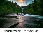 waterfalls  bend oregon | Shutterstock . vector #744956239
