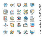management icons set   | Shutterstock .eps vector #744964606