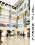 blur scene inside the shopping... | Shutterstock . vector #744970513
