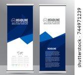 roll up business brochure flyer ... | Shutterstock .eps vector #744971239
