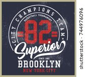 vintage varsity graphics and...   Shutterstock .eps vector #744976096