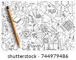 Hand Drawn Chemistry Vector...