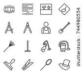 thin line icon set   team ... | Shutterstock .eps vector #744980554