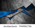 grunge tech material contrast... | Shutterstock .eps vector #744981736