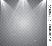vector spotlight. light effect | Shutterstock .eps vector #744985600