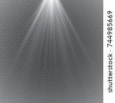 vector spotlight. light effect | Shutterstock .eps vector #744985669