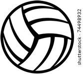 volleyball ball | Shutterstock .eps vector #74498932