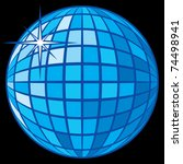 disco ball | Shutterstock .eps vector #74498941