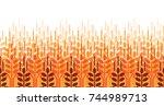 wheat ears seamless pattern.... | Shutterstock .eps vector #744989713