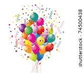 party balloons | Shutterstock .eps vector #74500438