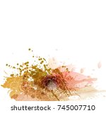 watercolor vector background... | Shutterstock .eps vector #745007710