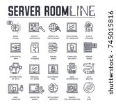 server outline icons collection ...