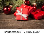 luxury new year gifts ... | Shutterstock . vector #745021630