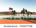 beautiful natural background ... | Shutterstock . vector #745027768